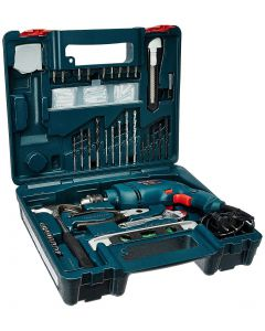 Bosch GSB 500W 10 RE Professional Tool Kit (Blue)